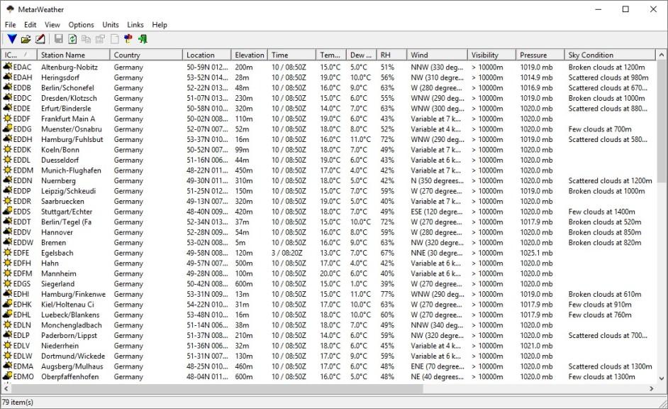 Screenshot 1 - MetarWeather