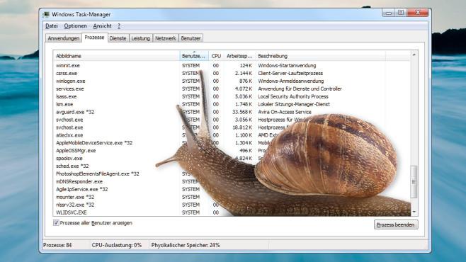 Windows beschleunigen: So deaktivieren Sie unnötige Hintergrundprogramme Windows müllt mit der Zeit zu. COMPUTER BILD nennt Ihnen wirksame Tipps, mit denen Sie gründlich aufräumen.©langsam-pio3---Fotolia.com
