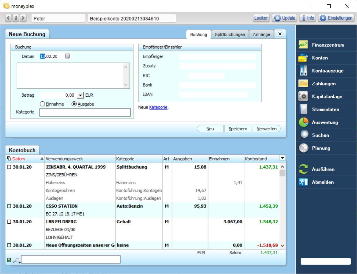 Screenshot 1 - Moneyplex