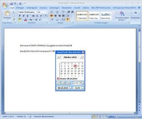 SmartTools Mini-Kalender für Word
