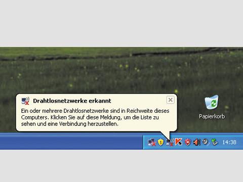 WLAN-Verbindung Windows XP ©COMPUTER BILD