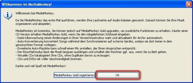 MediaMonkey: Upgrade-Hinweis überspringen
