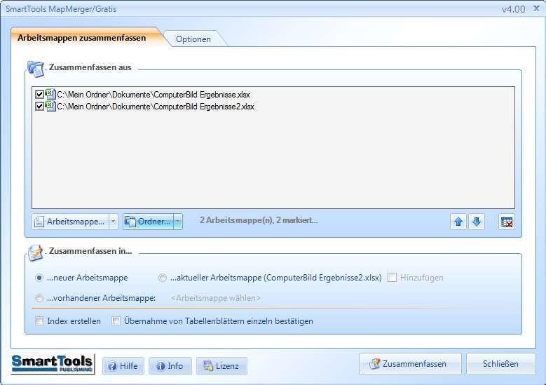 SmartTools MapMerger für Excel 4.00 - Download - COMPUTER BILD