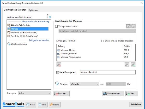 Screenshot 1 - SmartTools Anhang-Assistent für Outlook