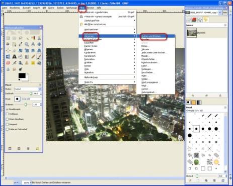 GIMP: Bilder verwirbeln