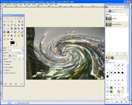 GIMP: Effekt anwenden
