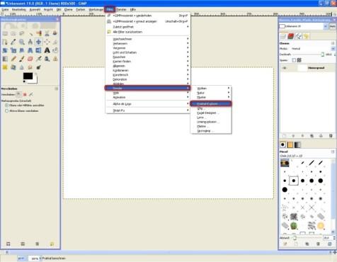 GIMP: Fraktal-Explorer nutzen