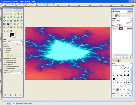 GIMP: Fraktale einfügen