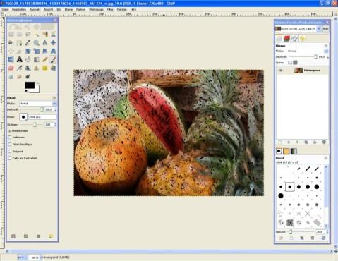 GIMP: GIMPressionist: Filzstift-Effekt nutzen