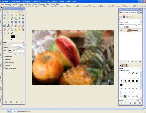 GIMP: GIMPressionist: Kringel-Effekt integrieren