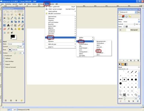 GIMP: Mit Zufallsmustern arbeiten