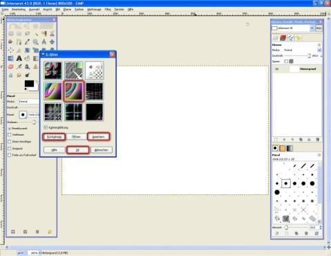 GIMP: Muster erstellen