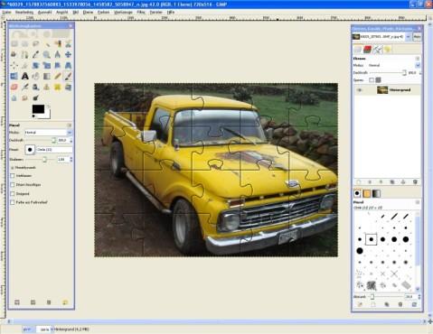 GIMP: Puzzle-Effekt einfügen