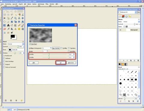 GIMP: Rauschen einstellen