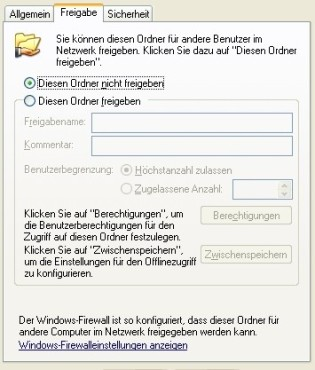 XP: Ordner-Freigabe im Heimnetzwerk ©COMPUTER BILD