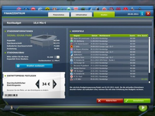 Fußball Manager 11: Vereinswahl ©Electronic Arts