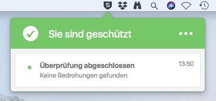 Screenshot 1 - Sophos Home Free Antivirus (Mac)