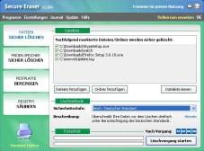 """Secure Eraser: """"Secure Eraser"""" entfernt Dateien und Ordner durch sicheres Überschreiben und erleichtert Ihr System um überflüssige Dateien und Registry-Einträge."""