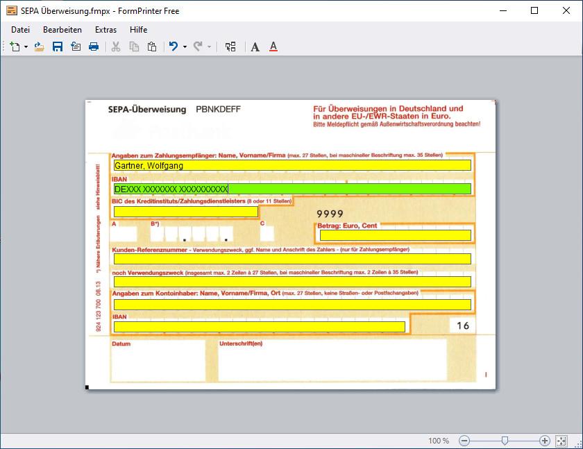 Screenshot 1 - FormPrinter