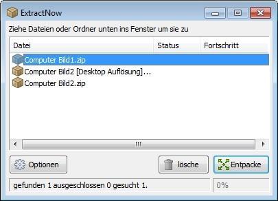 Screenshot 1 - ExtractNow Portable