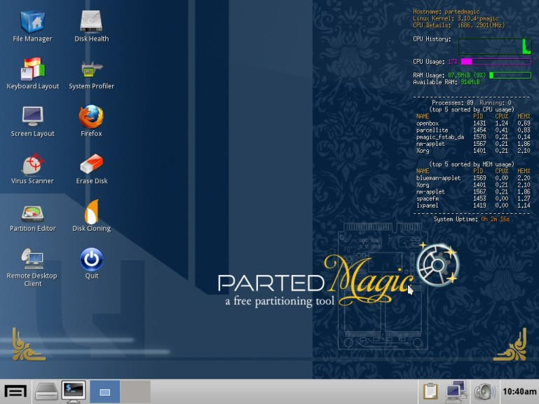 Screenshot 1 - Parted Magic