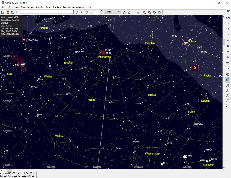 Screenshot 1 - Cartes du Ciel (SkyChart)