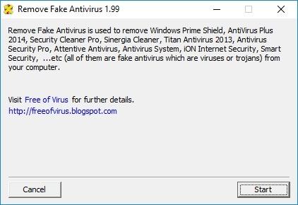 Screenshot 1 - Remove Fake Antivirus