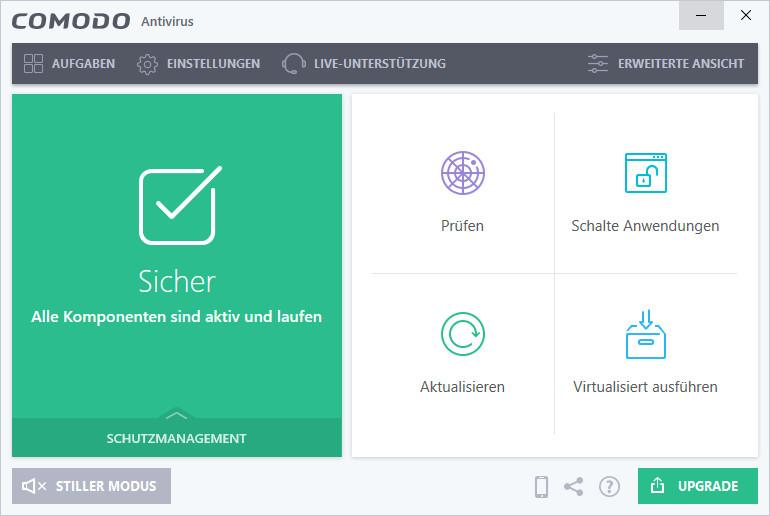 Screenshot 1 - Comodo Antivirus