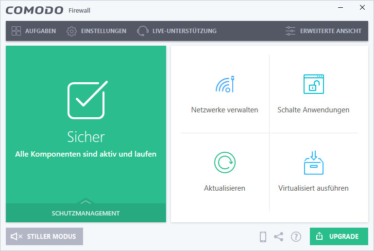 Screenshot 1 - Comodo Firewall