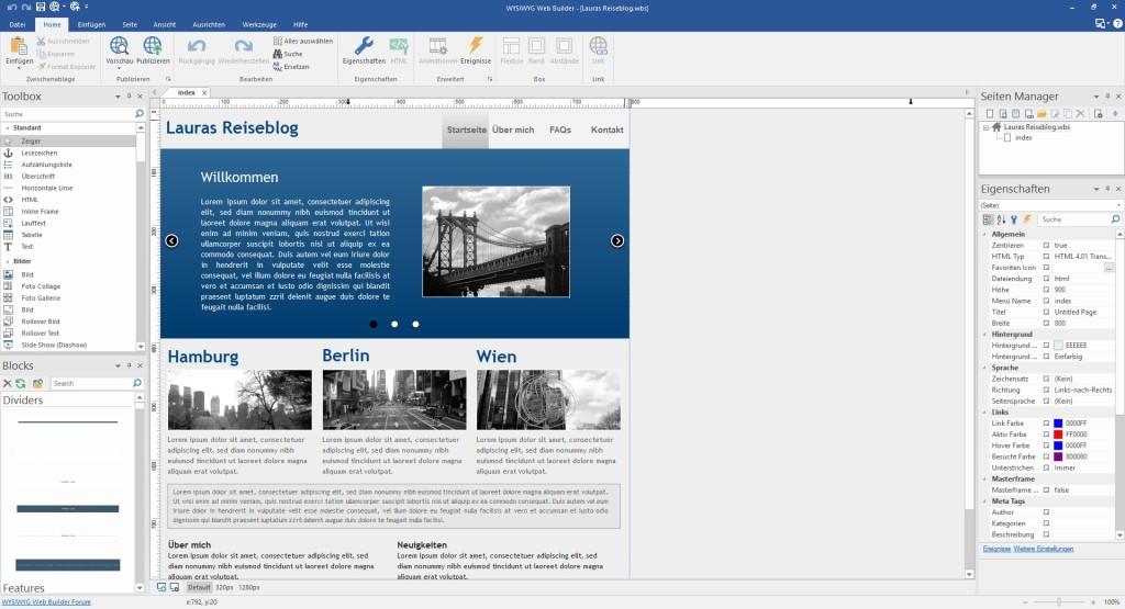 Screenshot 1 - WYSIWYG Web Builder