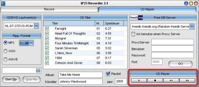 No23 Recorder: Songs vorhören