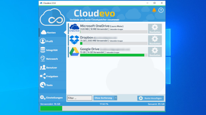 Cloudevo: Mehrere Cloud-Speicher verbinden ©COMPUTER BILD