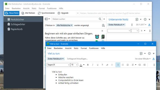 Evernote: Notiz-Programm mit Internetanbindung ©COMPUTER BILD