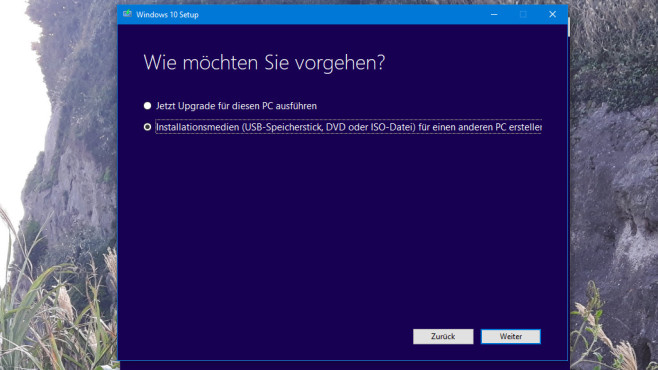 Media Creation Tool: Windows neu installieren © COMPUTER BILD