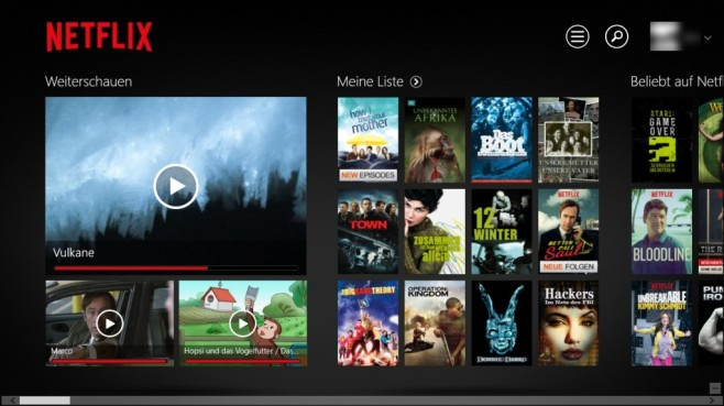 Netflix (App für Windows 10 & 8): Filme streamen © COMPUTER BILD