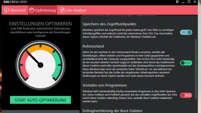 SSD Fresh: Moderne Flashspeicher optimieren ©COMPUTER BILD