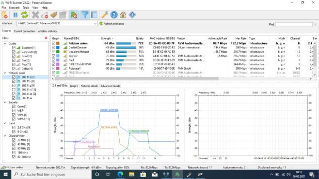 Wi-FiScanner: WLANs professionell analysieren ©COMPUTER BILD