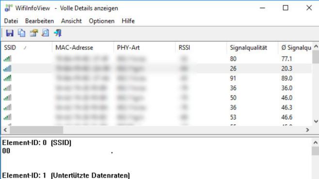 WirelessNetView und WifiInfoView: WLAN-Infos einsehen ©COMPUTER BILD