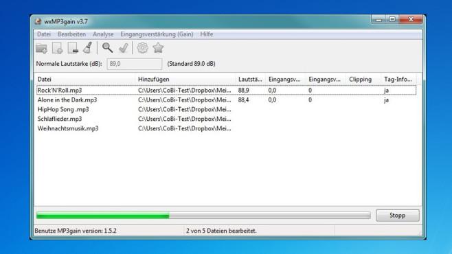 wxMP3gain: Musik-Lautstärke vereinheitlichen ©COMPUTER BILD