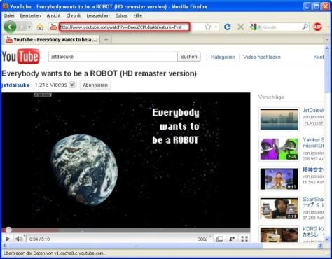 VLC Media Player: Video-Link kopieren