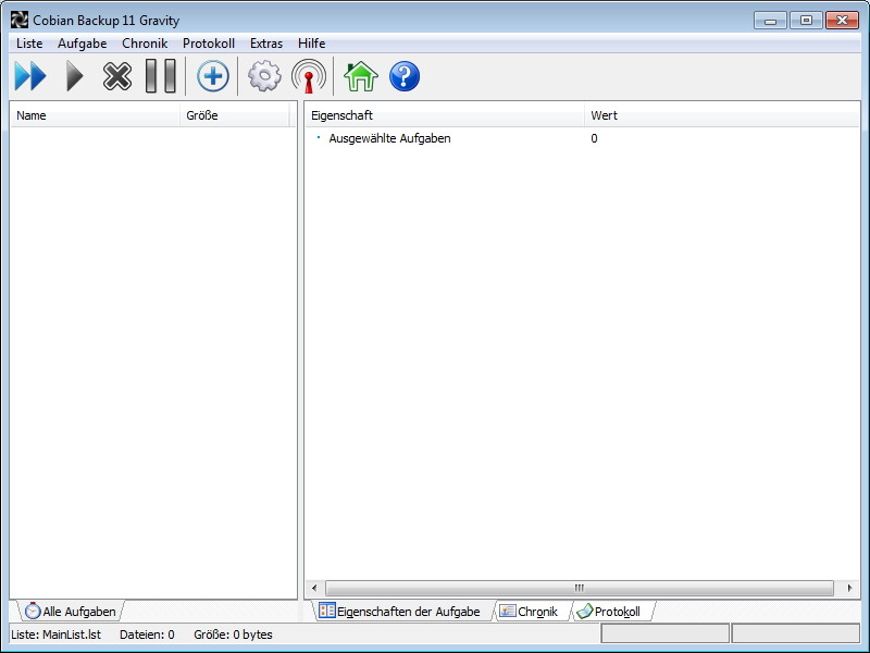 Screenshot 1 - Cobian Backup