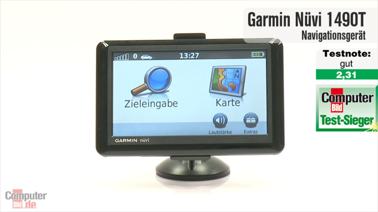 video zum test garmin n vi 1490tpro computer bild. Black Bedroom Furniture Sets. Home Design Ideas