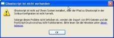 """Scribus: Zum Arbeiten im Postscript-Format ist das Zusatzprogramm """"Ghostscript"""" notwendig."""