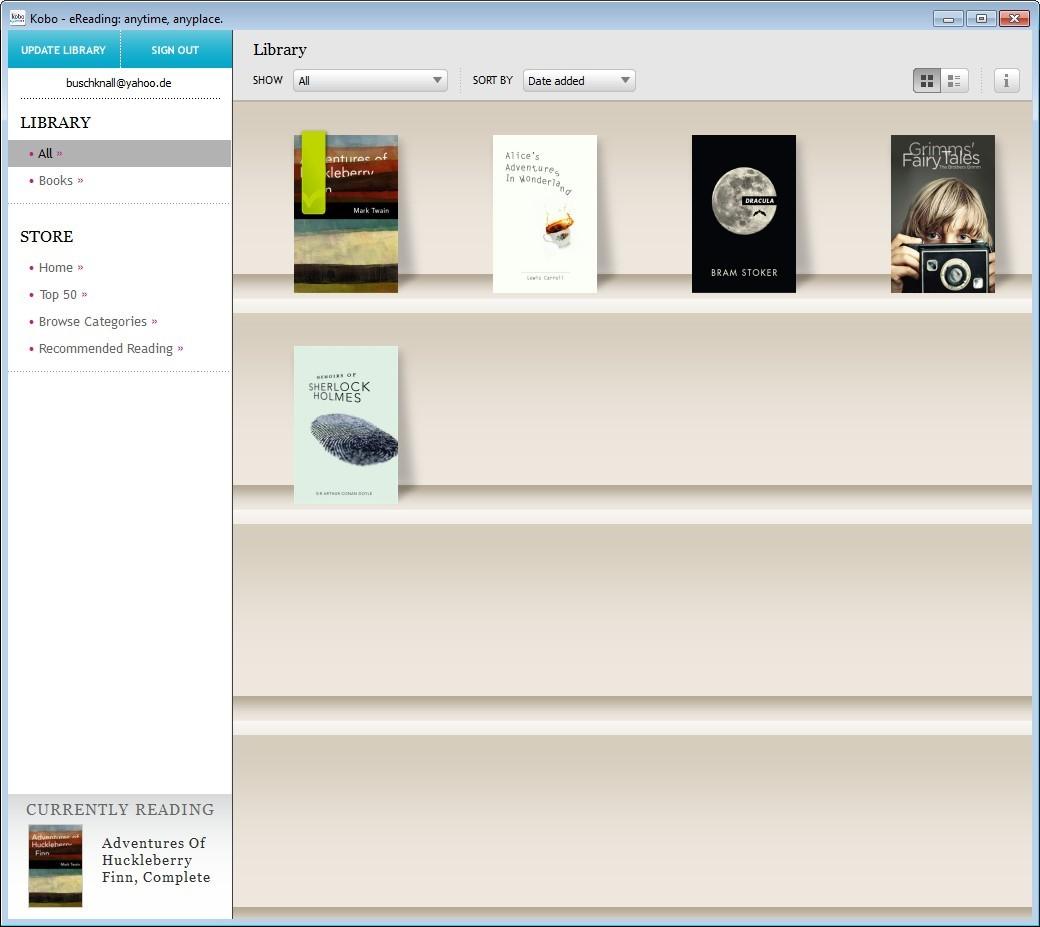 Screenshot 1 - Kobo Desktop App