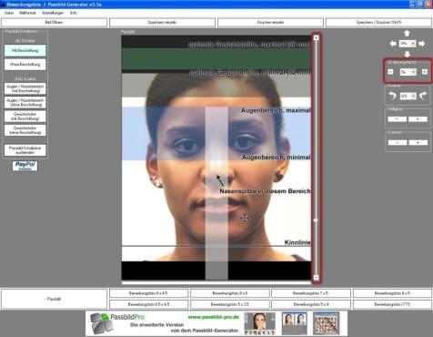 Passbild-Generator: Bildgröße ändern