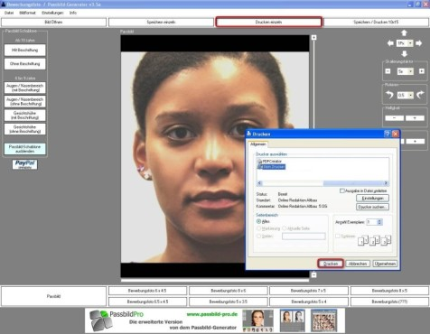 Passbild-Generator: Fotos zu Papier bringen
