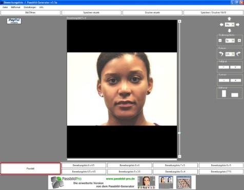 Passbild Generator Bewerbungsfotos Biometrische Passbilder Selbst