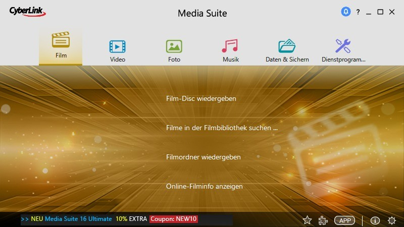 Screenshot 1 - CyberLink Media Suite
