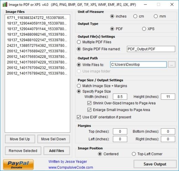 Screenshot 1 - Image To PDF or XPS