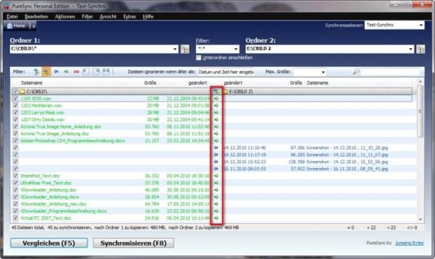 PureSync: Daten synchronisieren
